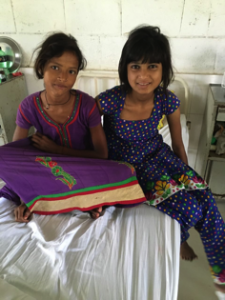 Vibya with her friend Sinkie, another patient at the Centre
