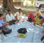 Kishori with his self help group