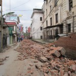 Earthquake 24April 2015 - road to our hotel, Thamel 18