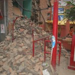 Earthquake - Nepal 24April2015 The end of a temple in Thamel- 33