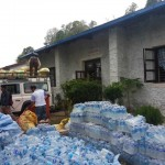 NLT's vehicle delivering aid to Sindhuli