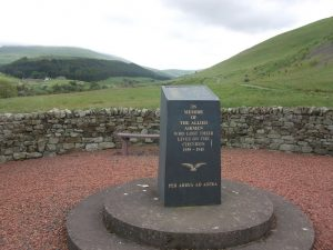A memorial landmark
